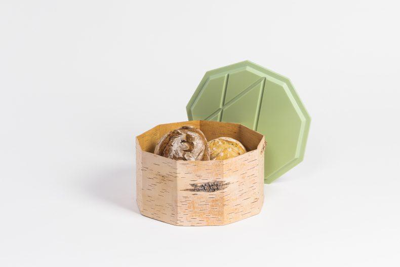 Brotdose aus Birke mit Corian Deckel