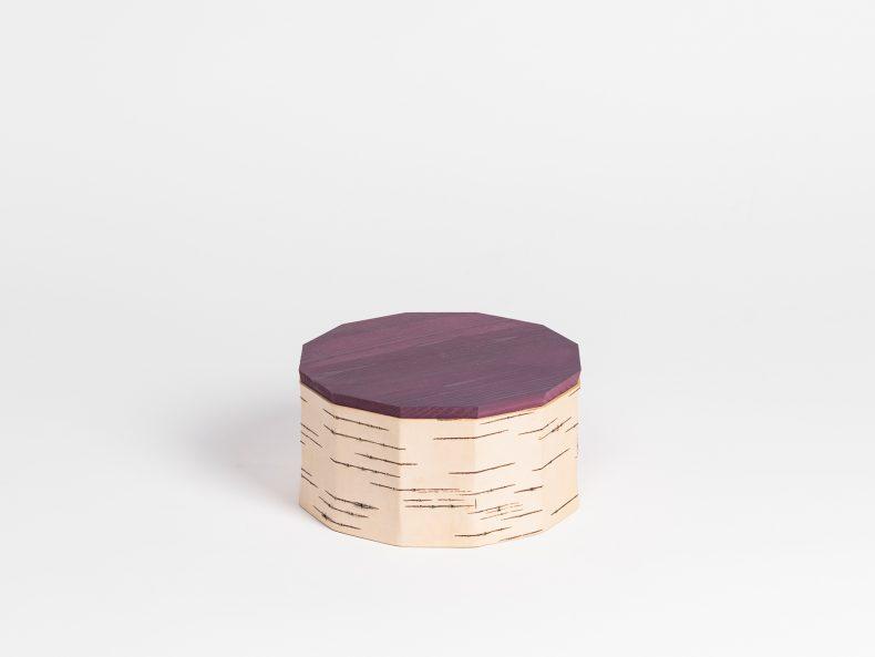 Kekdsose aus Natur Birke mit Holzdeckel