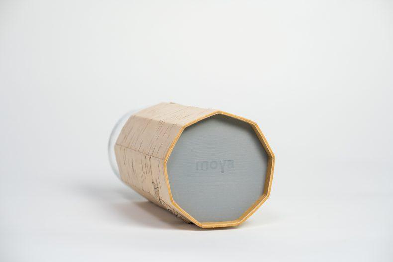 Dekorative Vase aus Birkenrinde und Glas von MOYA