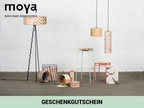 Geschenkgutschein für nachhaltige Produkte aus Birkenrinde von Moya