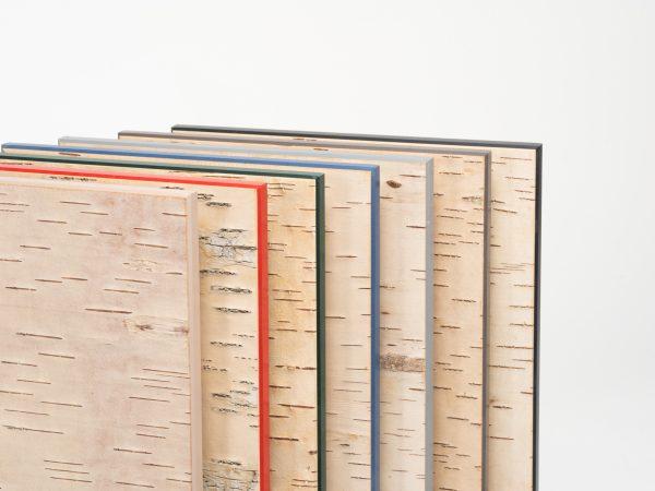 MOYA Panels Musterbox für Wandpaneele aus Birkenrinde