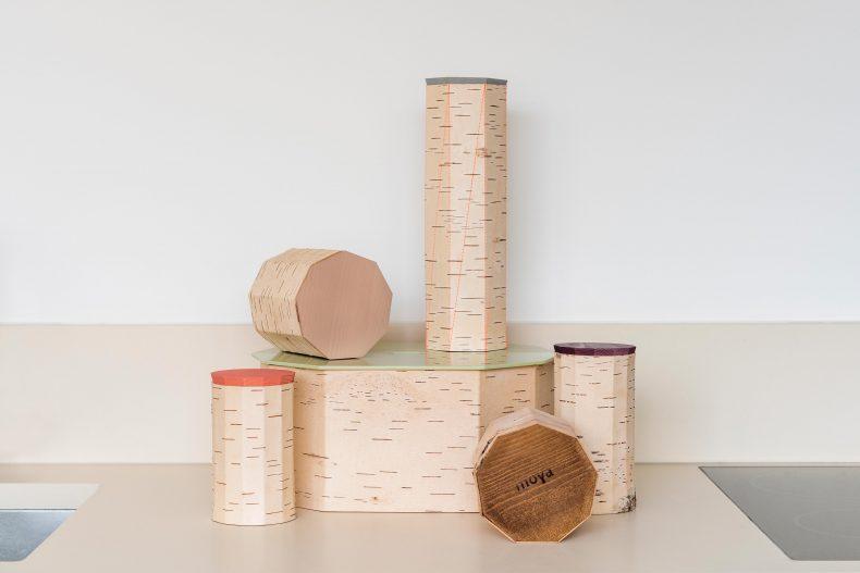 Vorratsdose Birke Holz Deckel