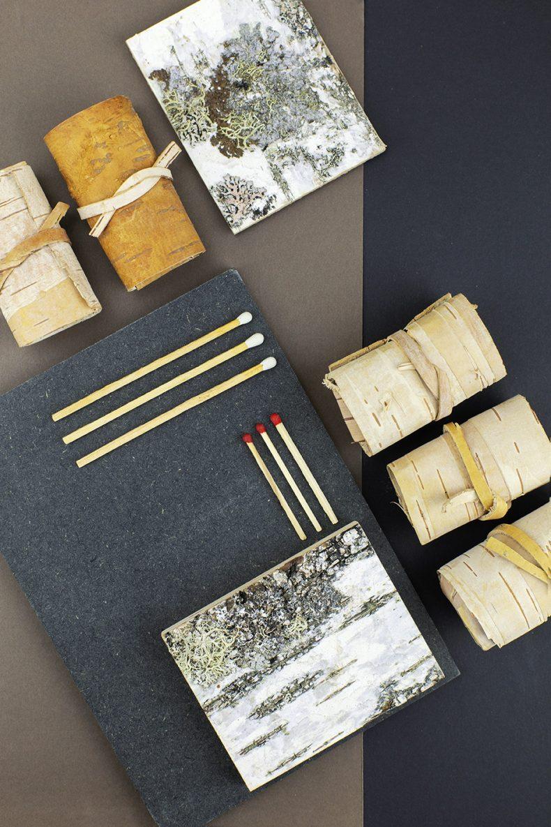 natural birch bark firelighter
